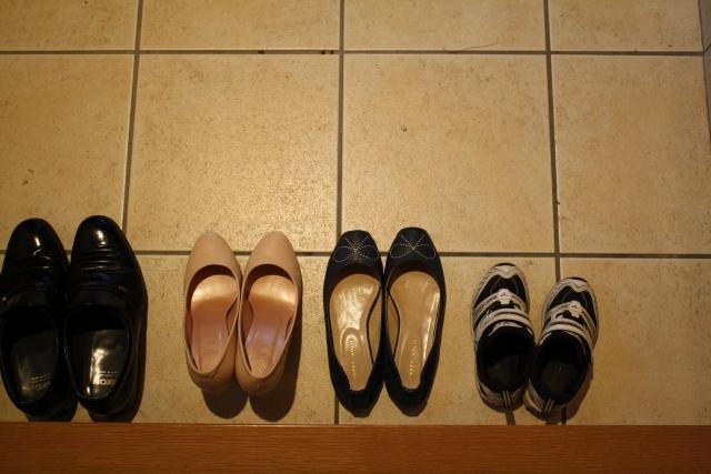 入園式,子供,靴,母,父