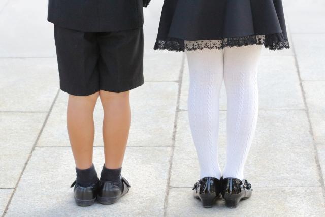 入園式,服装,女の子,靴,靴下
