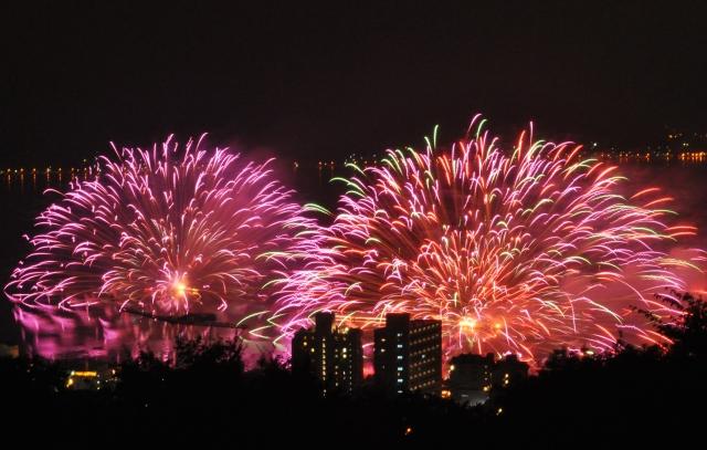 諏訪湖祭湖上花火大会,日程,見所,穴場,駐車場,2017